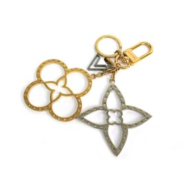 Louis Vuitton Neo Tapage Gold Silver Tone Bag Charm Key Holder