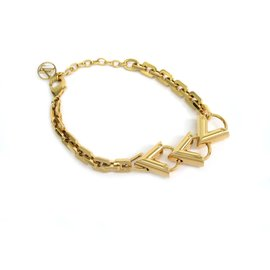 Louis Vuitton Gold Tone Metal Bracelet