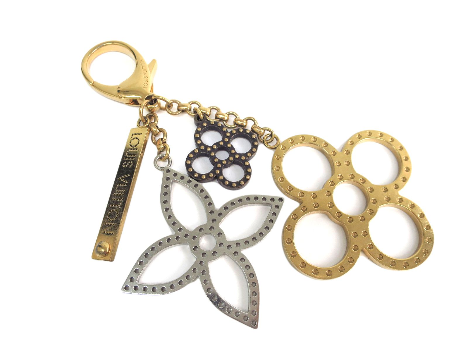 "Image of ""Louis Vuitton Gold Tone Hardware Bijoux Sac Tapage Key Holder"""