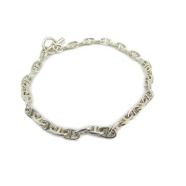 Hermes Chaine Dancre 925 Sterling Silver Choker Necklace
