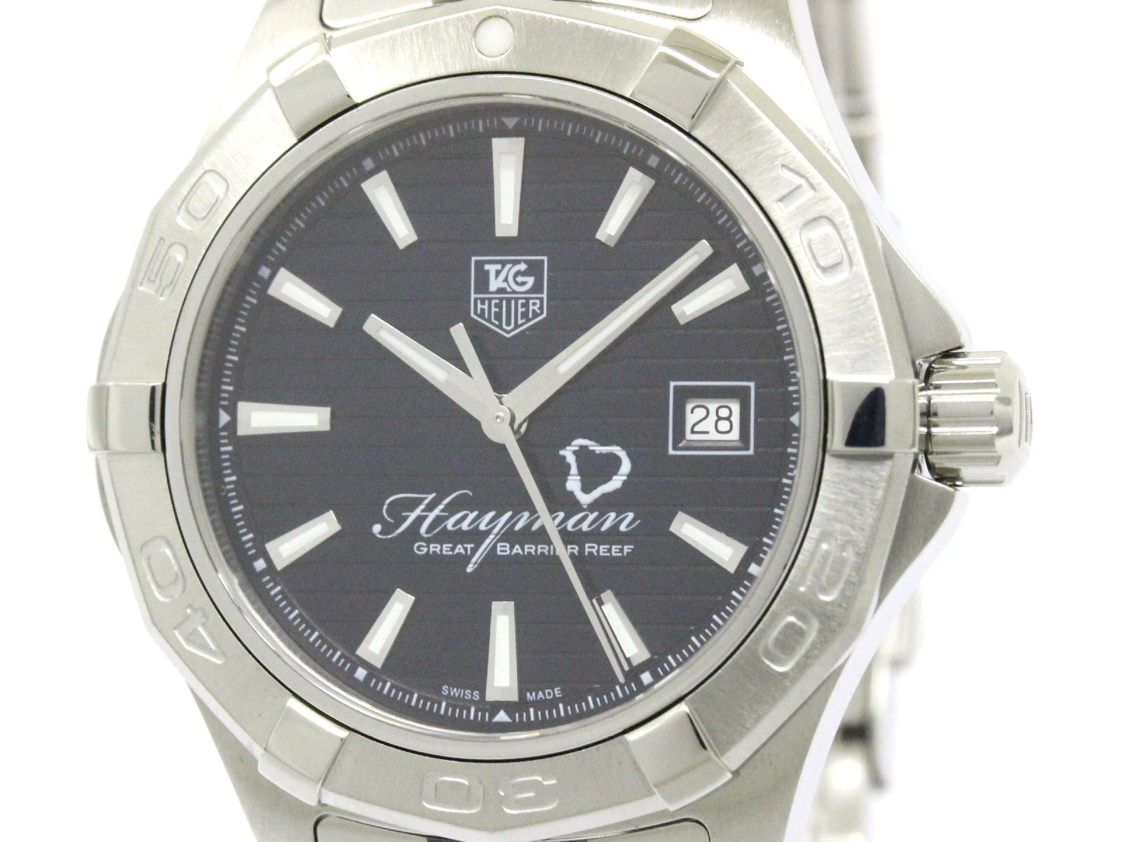 """Image of """"Tag Heuer Aquaracer Wap201Y Stainless Steel Automatic 41mm Mens Watch"""""""