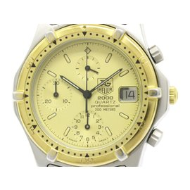 Tag Heuer 2000 264.006 Stainless Steel & Gold Plated 37mm Mens Watch