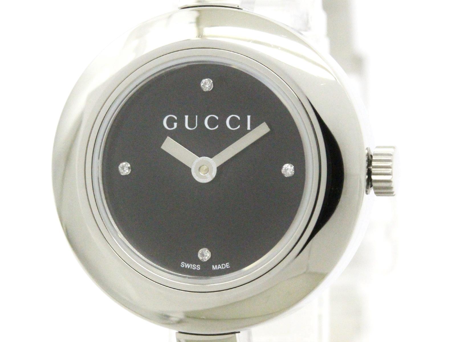 "Image of ""Gucci G Circle Ya105545 Stainless Steel wDiamond Quartz 26mm Womens"""