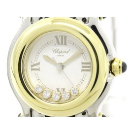 Chopard Happy Sports 27/8251-23 Stainless Steel / 18K Yellow Gold Quartz 26mm Womens Watch