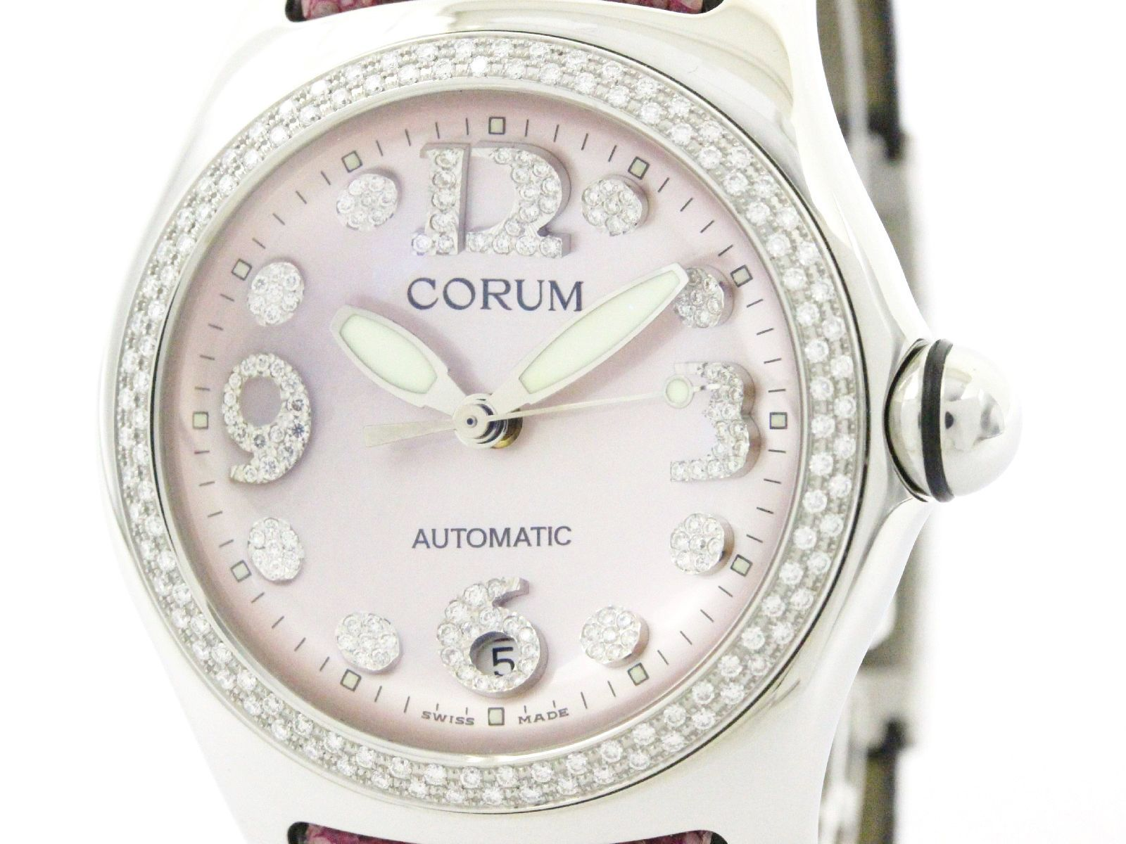 """Image of """"Corum Bubble 082.157.47 Stainless Steel & Diamond Automatic 45mm Mens"""""""