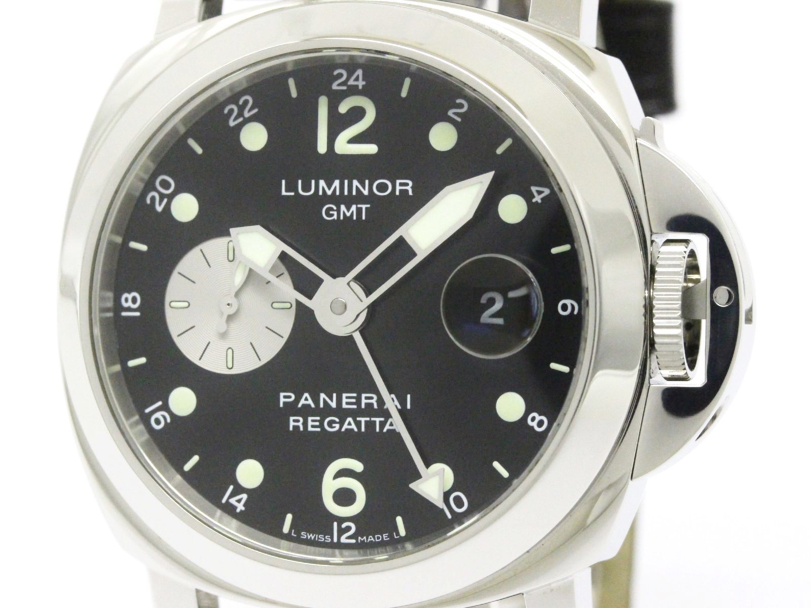"""Image of """"Panerai Luminor Pam00156 Stainless Steel / Leather Automatic 44mm"""""""