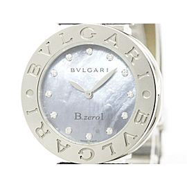 Bulgari B-Zero1 BZ30S Stainless Steel & Blue Mother Of Pearl Dial 30mm Womens Watch