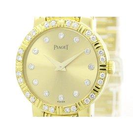 Piaget Dancer 80564 18K Yellow Gold & Diamond Quartz 23mm Womens Watch