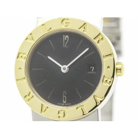 Bulgari BB26SGD 18K Yellow Gold & Stainless Steel 26mm Womens Watch