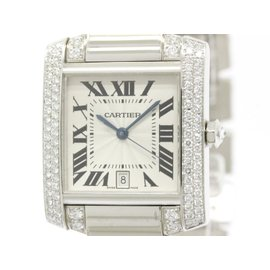 Cartier Tankfrancaise 18K White Gold Automatic 28mm Womens Watch