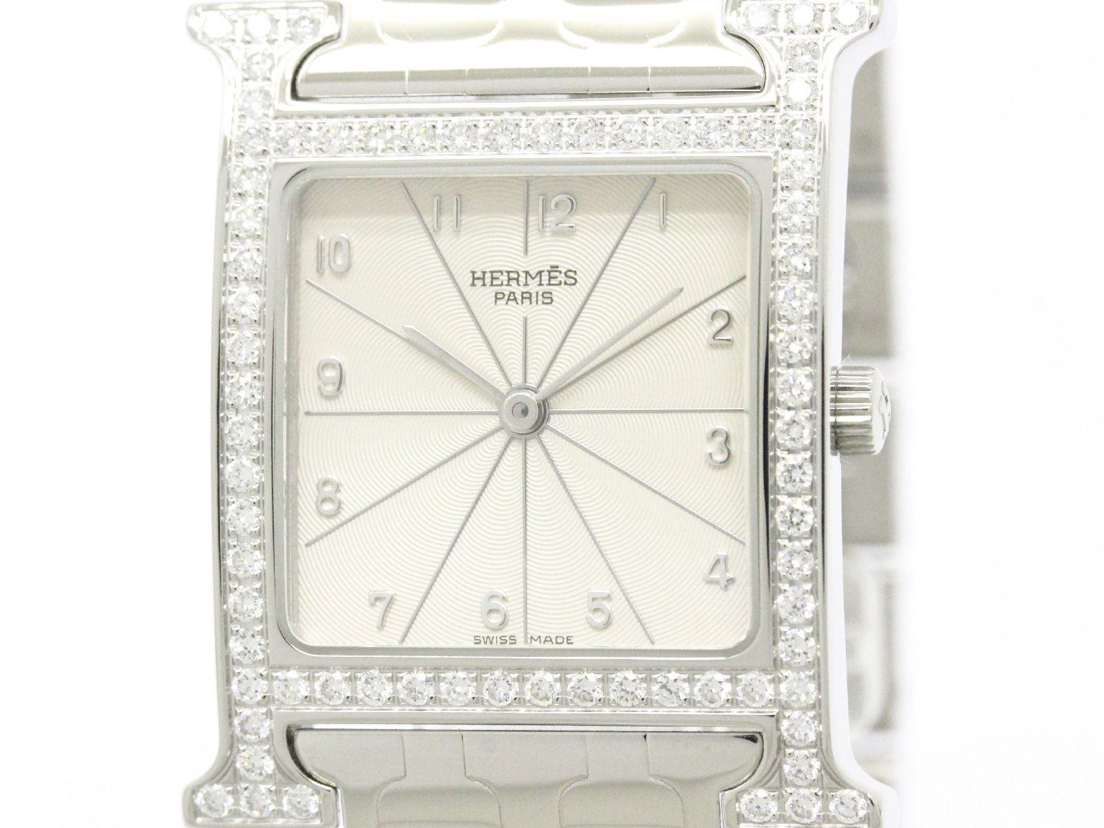 """Image of """"Hermes H Watch Hh1.530 Stainless Steel Quartz 26mm Mens Watch"""""""