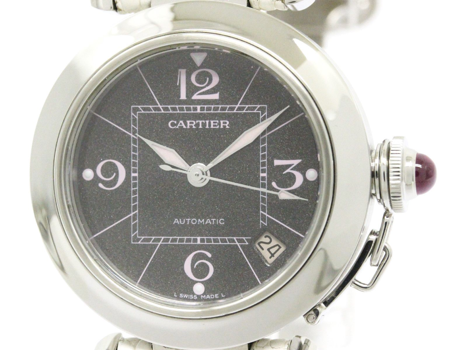 "Image of ""Cartier Pasha C W3109599 Stainless Steel Automatic 35mm Womens Watch"""