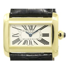 Cartier Mini Tank W6300356 Yellow Gold Quartz 32mm Womens Watch
