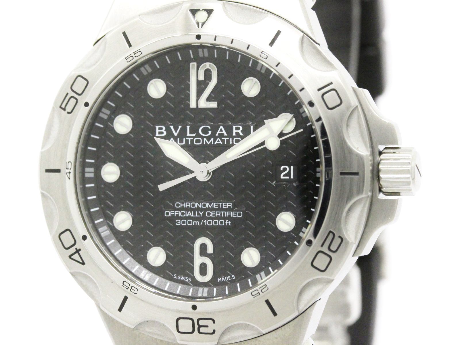 """Image of """"Bulgari Diagono Dp42Ssd Stainless Steel Automatic 42mm Mens Watch"""""""