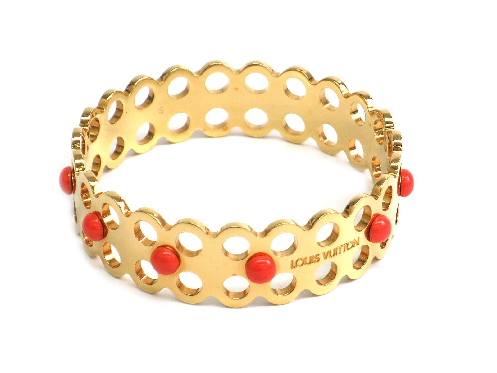 "Image of ""Louis Vuitton Gold Tone Hardware Bracelet"""