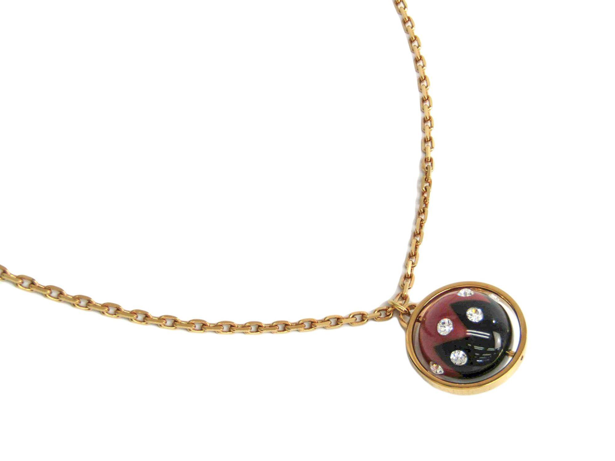 "Image of ""Louis Vuitton Magnetic Gold Tone Metal Swarovski Crystal Pendant"""