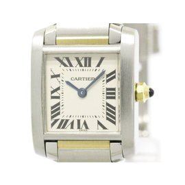 Cartier Tank Francaise W51007Q4 18K Yellow Gold and Stainless Steel 20mm Womens Watch