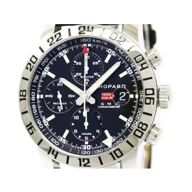 Chopard Mille Miglia Chronograph GMT 16/8992 3001 Stainless Steel / Leather Automatic 42mm Mens Watch