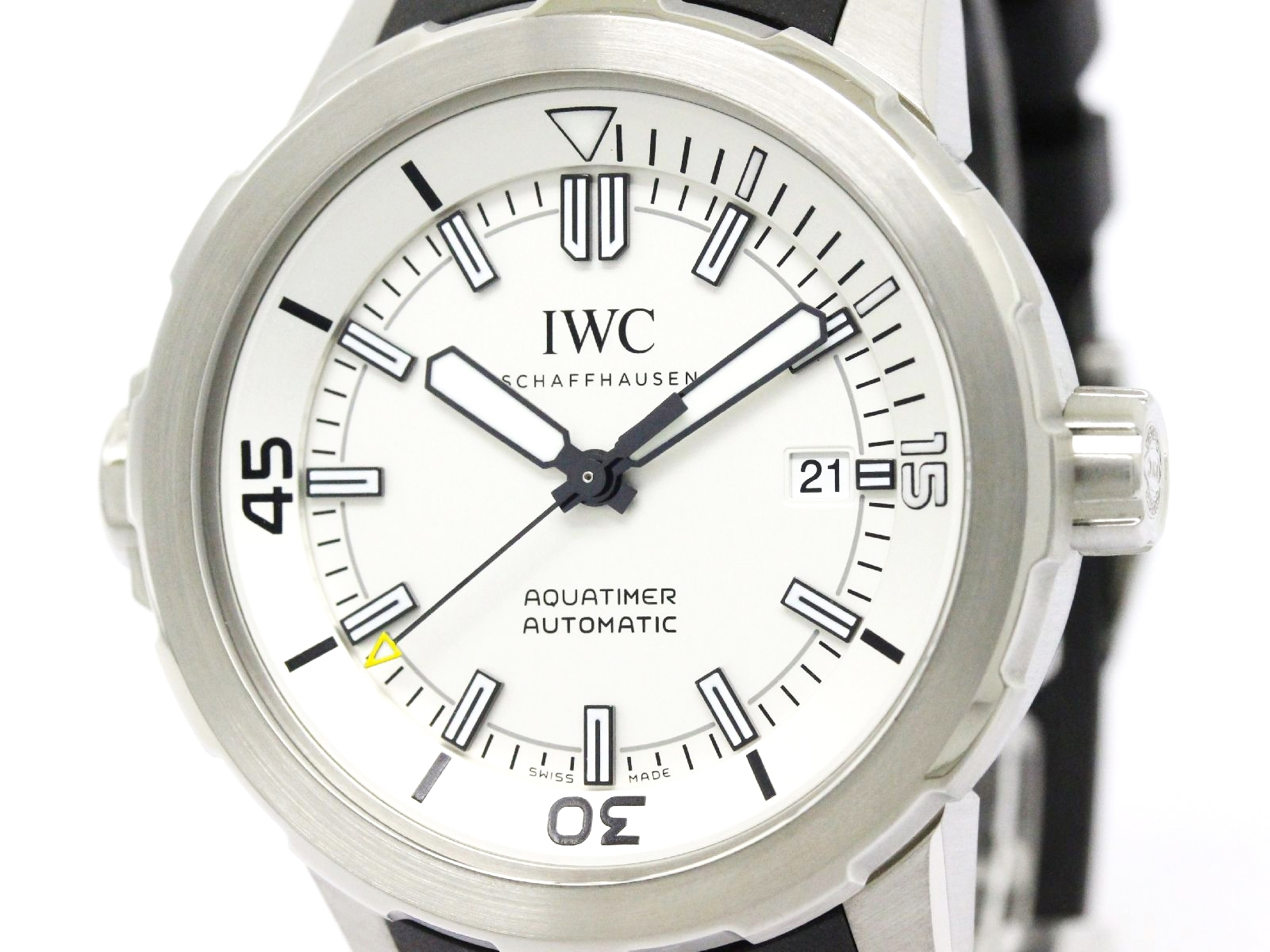 "Image of ""IWC Schaffhausen Aquatimer Iw329003 Stainless Steel & Rubber Automatic"""