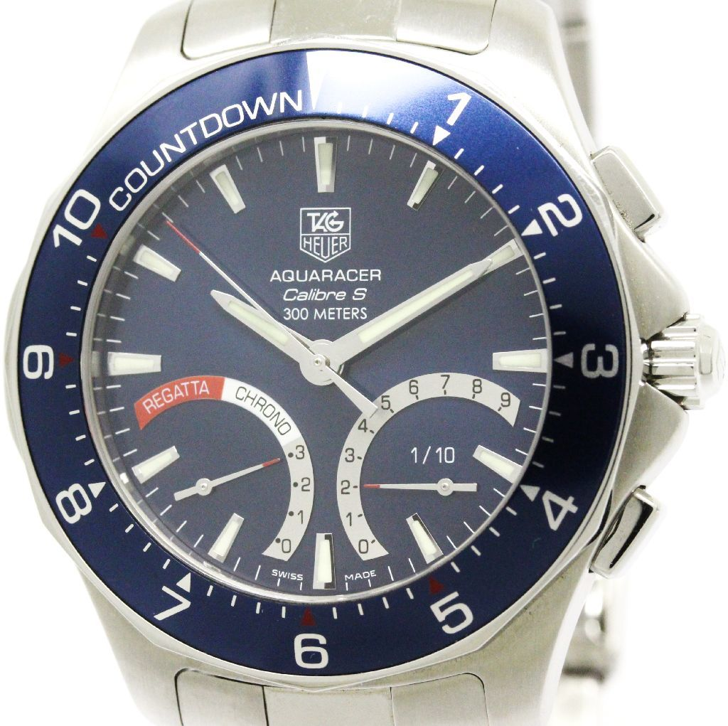 """Image of """"Tag Heuer Aquaracer Caf7110 Quartz Stainless Steel 42mm Mens Watch"""""""
