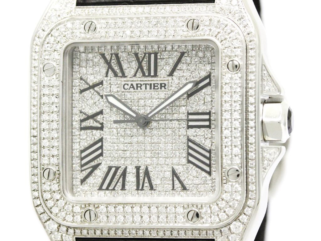"Image of ""Cartier Santos W20073X8 Stainless Steel Automatic 38mm Mens Watch"""