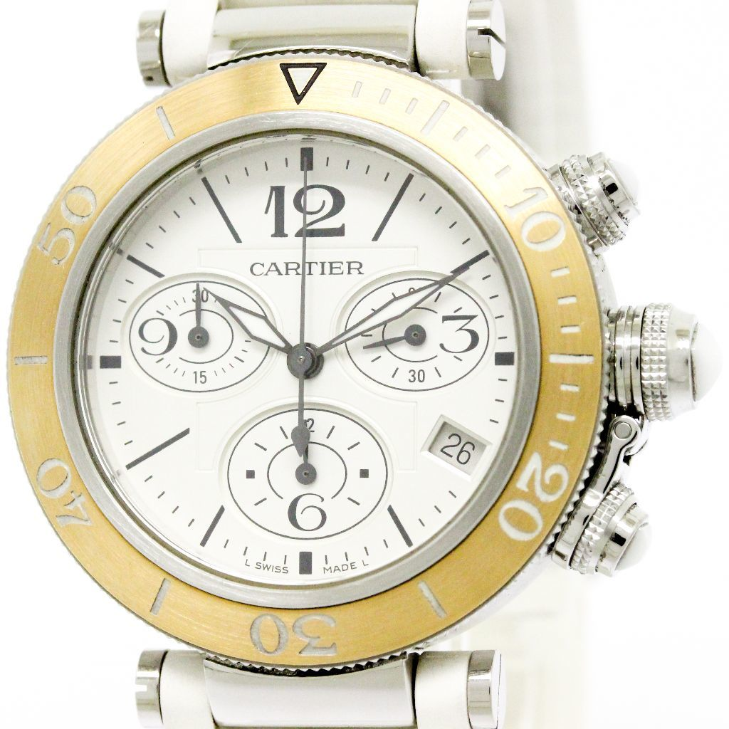 """Image of """"Cartier Pasha Seatimer W3140004 Stainless Steel and 18K Pink Gold"""""""