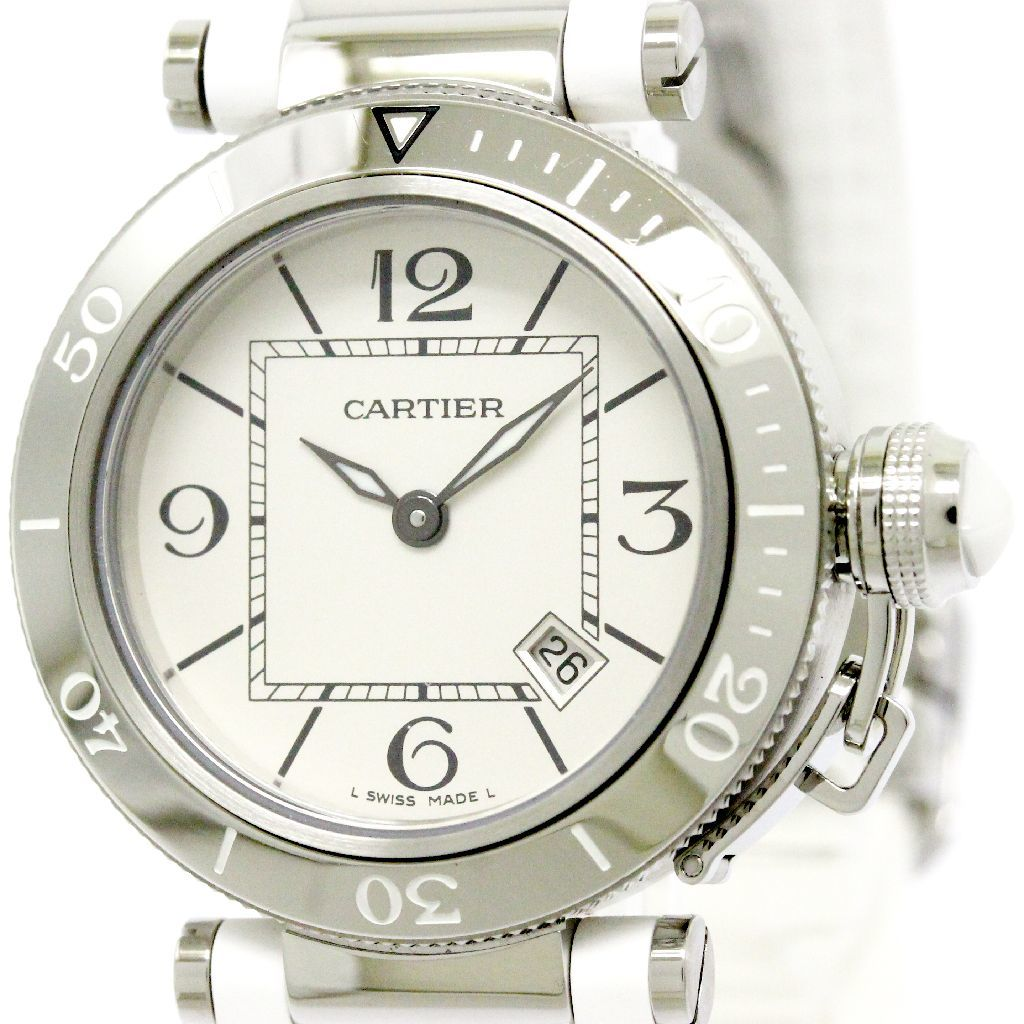 "Image of ""Cartier Pasha Seatimer W3140002 Stainless Steel Quartz 33mm Womens"""