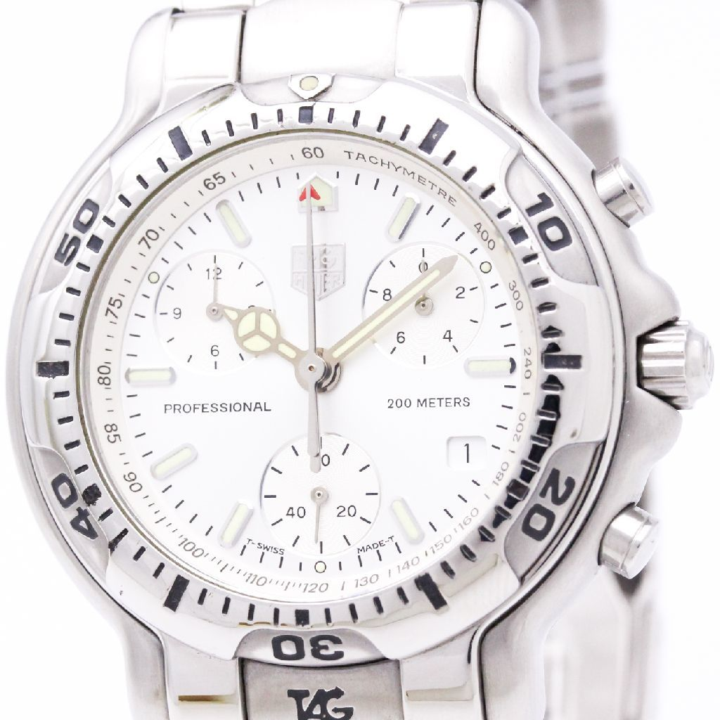 """Image of """"Tag Heuer 6000 Ch1110 Stainless Steel 40mm Mens Watch"""""""