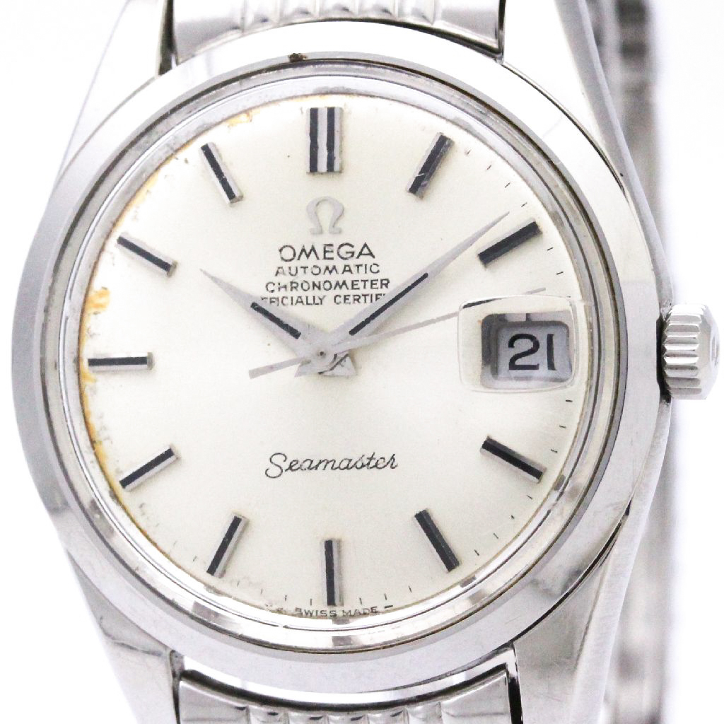 """Image of """"Omega Seamaster 166.010 Automatic Stainless Steel 35mm Mens Watch"""""""