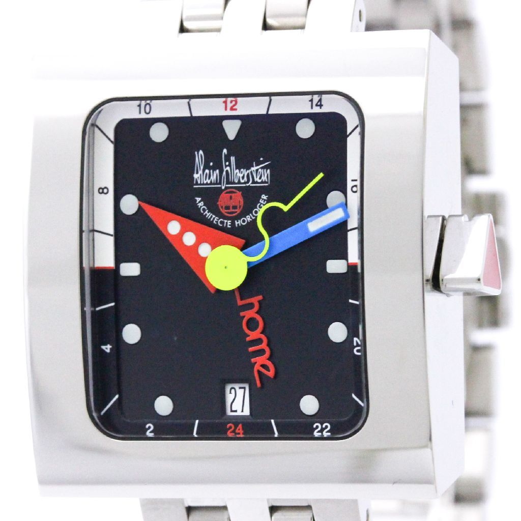 "Image of ""Alain Silberstein Vg11 Stainless Steel Automatic 34mm Mens Watch"""
