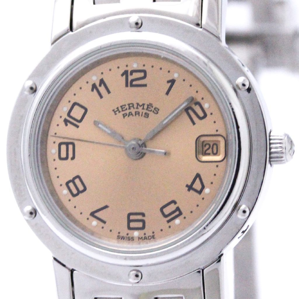 "Image of ""Hermes Clipper Cl4.210 Stainless Steel Quartz 24mm Womens Dress Watch"""