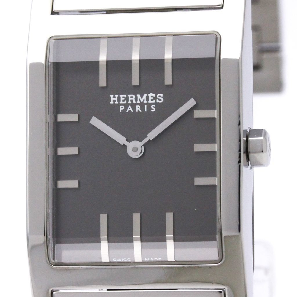"Image of ""Hermes Tandem Ta1.710 Quartz Stainless Steel 25mm Mens Dress Watch"""