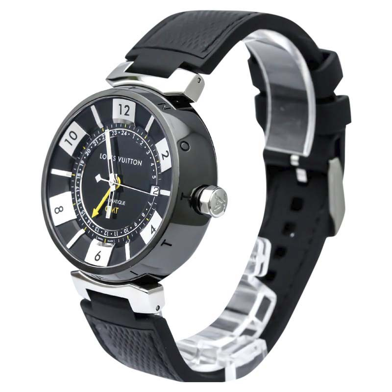 "Image of ""Louis Vuitton Tambour Q113I Stainless Steel 41mm Mens Watch"""