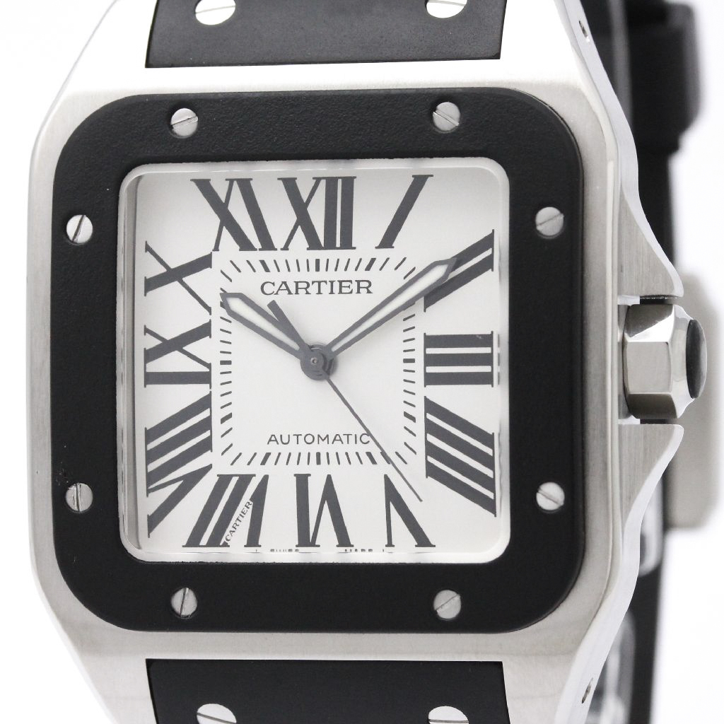 """Image of """"Cartier Santos 100 W20121U2 Automatic Stainless Steel 38mm Mens Sports"""""""