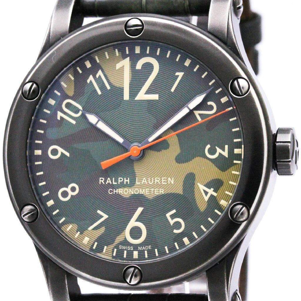 "Image of ""Ralph Lauren Safari Rlr0220711 Stainless Steel Green Dial Automatic"""