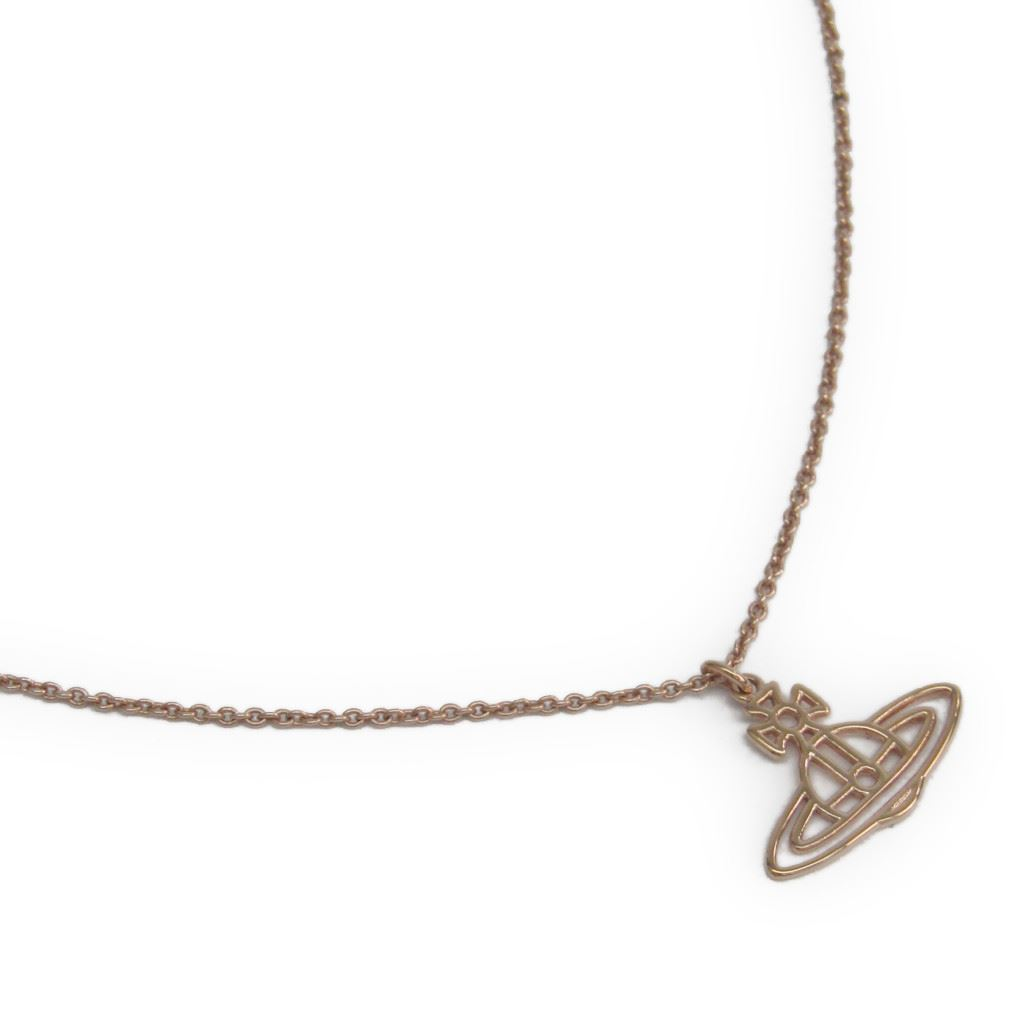 "Image of ""Vivienne Westwood Rose Gold Tone Pendant Necklace"""