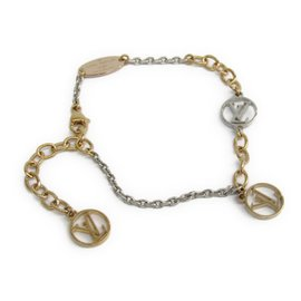 Louis Vuitton Gold & Silver Tone Hardware Logomania Bracelet