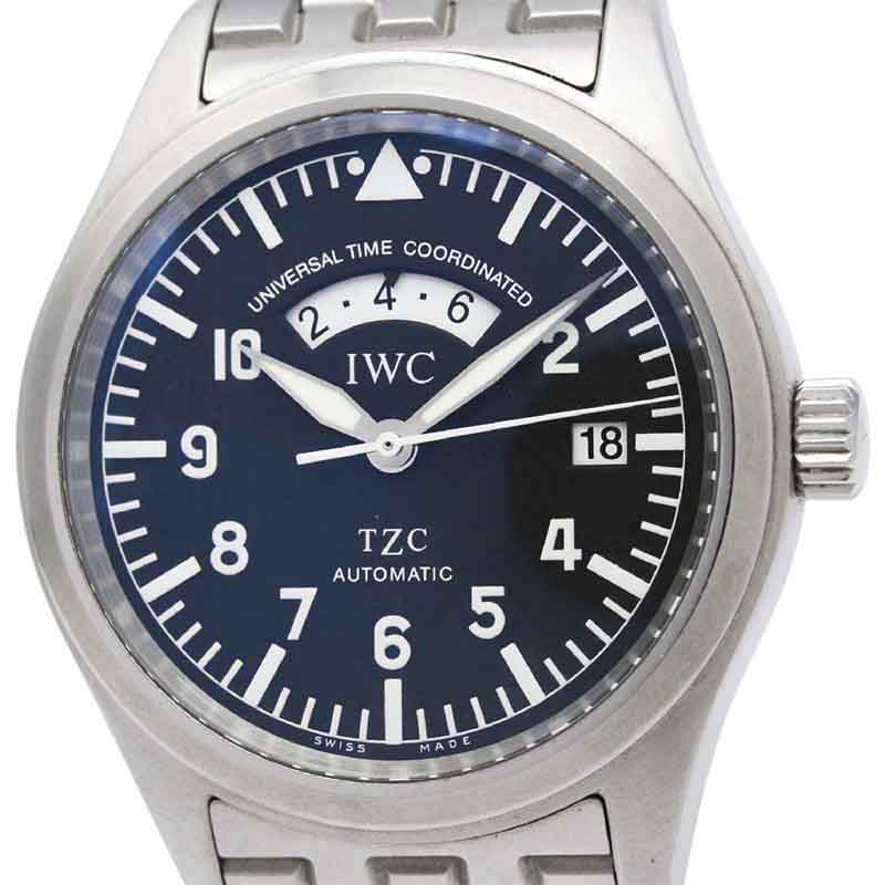 "Image of ""IWC Flieger Iw325102 Stainless Steel Automatic 39mm Mens Watch"""