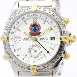Breitling Duograph Automatic Stainless Steel Yellow Gold Men's Sports Watch B15508