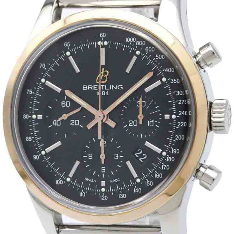 """Image of """"Breitling Transocean Automatic Rose Gold Stainless Steel Men's Sports"""""""