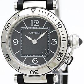 Cartier Pasha Seatimer Quartz Stainless Steel Women's Sports Watch W3140003