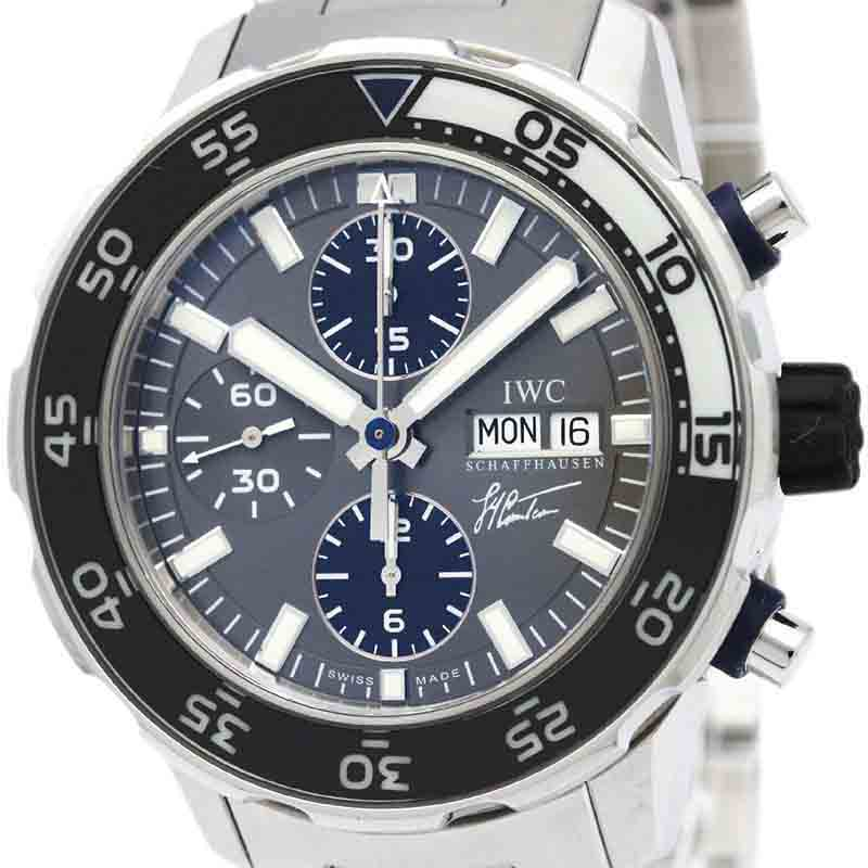 "Image of ""IWC Aquatimer Automatic Stainless Steel Men's Sports Watch Iw376706"""