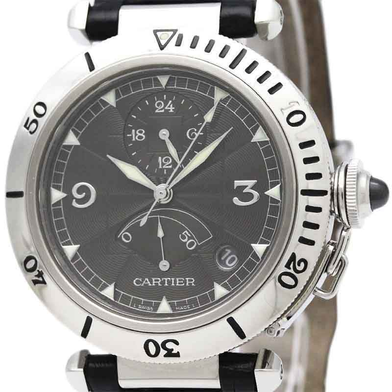 """Image of """"Cartier Pasha W3105055 Platinum and Stainless Steel Automatic 38mm"""""""