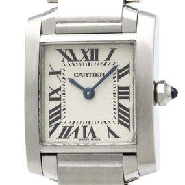 Cartier Tank Francaise W51008Q3 Stainless Steel Quartz 20mm Womens Dress Watch