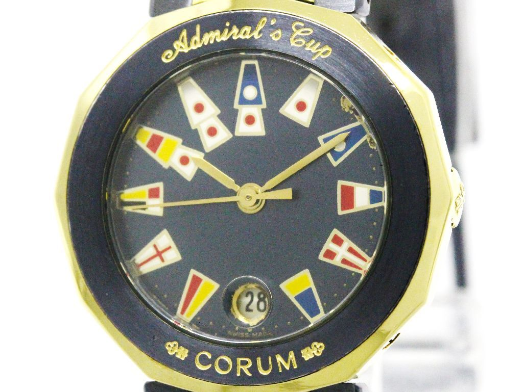 "Image of ""Corum Admirals Cup 39.610.31 18K Yellow Gold and Stainless Steel 26mm"""