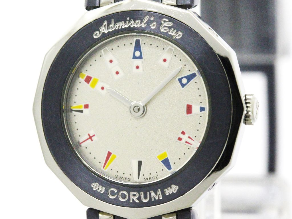 """""Corum Admirals Cup 24.810.30 Stainless Steel Quartz 22mm Womens Watch"""""" 2170395"