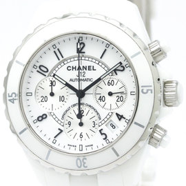 Chanel J12 H1007 Ceramic White Dial Automatic 41mm Mens Watch