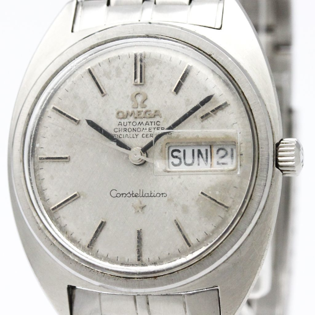 "Image of ""Omega Constellation 168.019 Stainless Steel Automatic 35mm Mens Watch"""