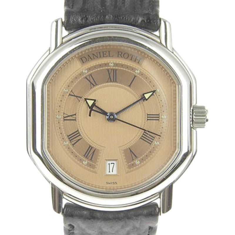 "Image of ""Daniel Roth Stainless Steel & Leather 34mm Unisex Watch"""