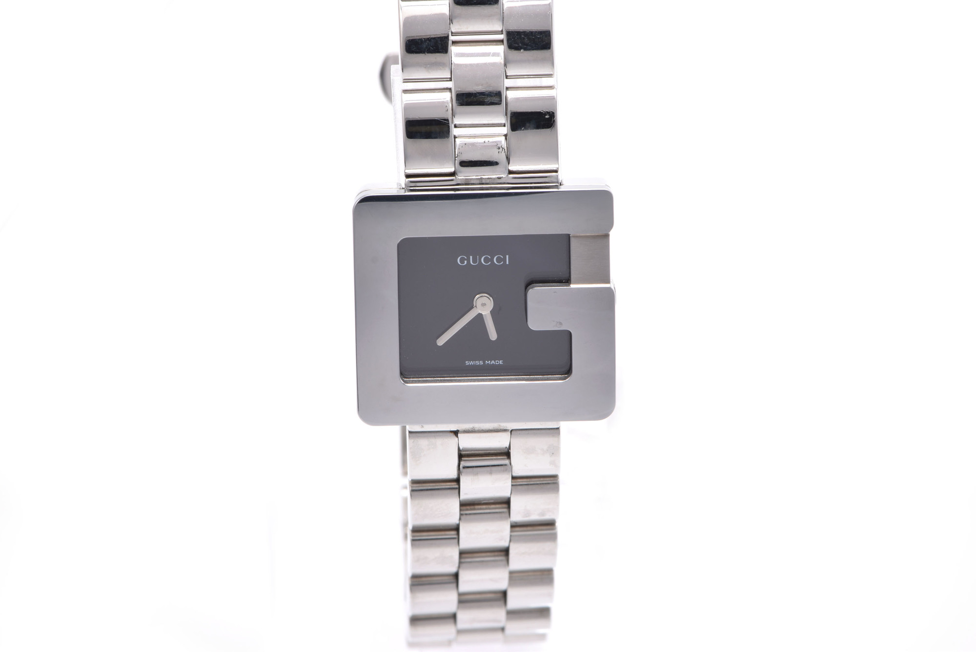 """Image of """"Gucci 3600L Stainless Steel Black Dial Quartz 23mm Womens Watch"""""""
